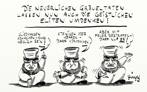 Cartoon: Das darf nur ER... (medium) by gimpl tagged imam,islam