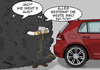 Cartoon: Vermessen (small) by pierre-cda tagged vw,volkswagen,abgas,betrug,skandal,auto,abgaswerte