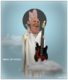 Cartoon: Wake Up! (small) by Babak Massoumi tagged pope,francis,rock,album
