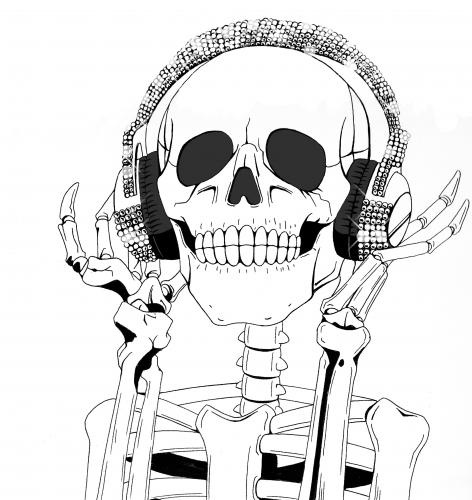 Cartoon: The skull enjoy the music (medium) by DJ SAVIOR tagged art,australia,beach,birthday,blue,bw,california,canada,canon,china,christmas,city,concert,dog,england,europe,family,festival,flower,flowers,food,france,friends,fun,germany,green,holiday,italy,japan,london,macro,music,nature,new,newyork,night,nikon,nyc,par,the