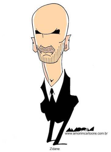 Cartoon: Zidane (medium) by Amorim tagged zinedine,zidane