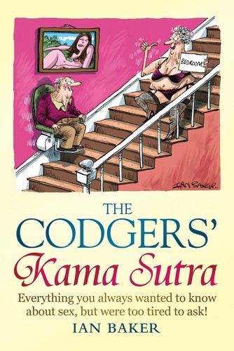 Cartoon: The Codgers Kama Sutra (medium) by Ian Baker tagged kama,sutra,codgers,codger,old,senior,citizens,guide,book,cover,artwork,cartoon,ian,baker,stair,lift,humour,comedy,parody,spoof,constable,and,robinson
