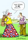 Cartoon: Greeting Card (small) by Ian Baker tagged golf,fashion,sport,trousers