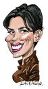 Cartoon: Karen Duffy (small) by Ian Baker tagged karen duffy actress presenter dumb and dumber author tv nation