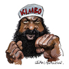 Cartoon: Kimbo Slice (small) by Ian Baker tagged kimbo,slice,ian,baker,caricature,cartoon,kevin,ferguson,fight,fighter,boxer,tough,martial,arts,actor,celebrity,famous,street,fists