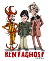 Cartoon: Rentaghost (small) by Ian Baker tagged halloween spooky spooks ghosts rentaghost kids children tv series seventies retro nostalgia fred mumford hubert davenport michael staniforth timothy claypole jester anthony jackson darbyshire ian baker caricature cartoon