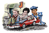 Cartoon: Starsky and Hutch (small) by Ian Baker tagged starsky,and,butch,ian,baker,caricature,cartoon,tv,film,actors,seventies,70s,cops,paul,michael,glaser,david,soul,antonio,fargas,los,angeles,america,artwork,celebrity,action,police