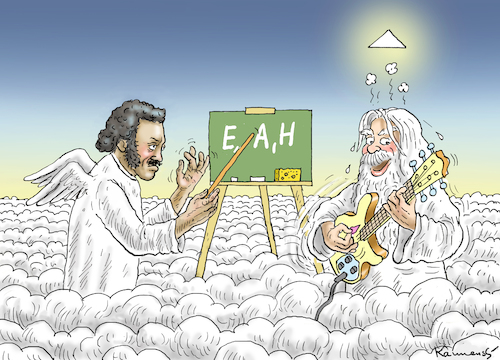 Cartoon: CHUCK BERRY (medium) by marian kamensky tagged chuck,berry,dies,chuck,berry,dies