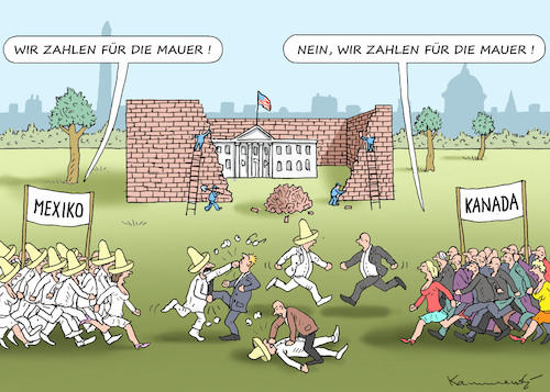 Cartoon: DER DRITTE MAUERWELTKRIEG (medium) by marian kamensky tagged obama,trump,präsidentenwahlen,usa,baba,vanga,republikaner,inauguration,demokraten,wikileaks,faschismus,jamal,khashoggi,shutdown,happy,new,year,2019,obama,trump,präsidentenwahlen,usa,baba,vanga,republikaner,inauguration,demokraten,wikileaks,faschismus,jamal,khashoggi,shutdown,happy,new,year,2019