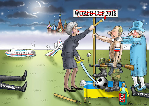 Cartoon: Englische Mädels sind sauer (medium) by marian kamensky tagged theresa,may,putin,sergei,skripal,novichok,russia,kgb,poison,attack,england,agents,theresa,may,putin,sergei,skripal,novichok,russia,kgb,poison,attack,england,agents