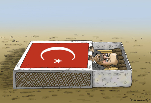 Cartoon: Erdogan (medium) by marian kamensky tagged erdogan,türkei,unruhen,diktatur,erdogan,türkei,unruhen,diktatur