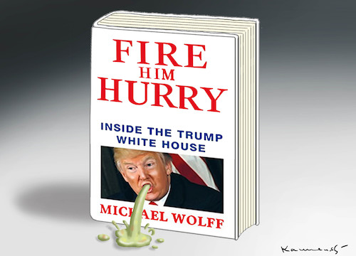 Cartoon: FIRE AND FURY (medium) by marian kamensky tagged obama,trump,präsidentenwahlen,usa,baba,vanga,republikaner,inauguration,demokraten,us,steuer,reform,weihnachten,fire,and,fury,steve,bannon,wikileaks,faschismus,obama,trump,präsidentenwahlen,usa,baba,vanga,republikaner,inauguration,demokraten,us,steuer,reform,weihnachten,fire,and,fury,steve,bannon,wikileaks,faschismus