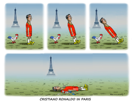 Cartoon: Held Cristiano Ronaldo (medium) by marian kamensky tagged em,in,frankreich,portugal,cristiamo,ronaldo,terrorgefahr,is,sicherheit,em,in,frankreich,portugal,cristiamo,ronaldo,terrorgefahr,is,sicherheit