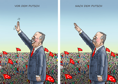 Cartoon: PUTSCHPFUSCH (medium) by marian kamensky tagged putsch,in,der,türkei,gescheitert,putsch,in,der,türkei,gescheitert
