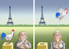 Cartoon: AFFRONT NATIONAL (small) by marian kamensky tagged präsidenten,wahlen,in,frankreich,terroranschlag,champs,elysees