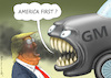 Cartoon: ANGRY GENERAL MOTORS (small) by marian kamensky tagged obama,trump,präsidentenwahlen,usa,baba,vanga,republikaner,inauguration,demokraten,wikileaks,faschismus,jamal,khashoggi,angry,general,motors