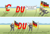 Cartoon: CDU WILL FAHNEN (small) by marian kamensky tagged merkel,seehofer,unionskrise,csu,cdu,flüchtlinge,gauland,merz,afd,akk,spahn,pegida,hutbürger,höcke,führer,wahlen,thüringen
