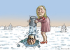 Cartoon: Französicher I B  Challenge (small) by marian kamensky tagged marine,le,pen,rechtsradikalismus,hollande,ice,buckt,challenge