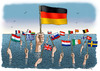 Cartoon: Germany s leading role in Europe (small) by marian kamensky tagged greece,destiny,european,union,financial,crisis,eurokrise,griechische,schuldenkrise,deutsche,führungsrolle,ekonomie,economy