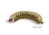 Cartoon: Kleberwurst (small) by marian kamensky tagged leberwurst,klebewurst,lebensmittel,wortspiel