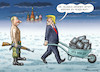 Cartoon: MAKE ALASKA RUSSIAN AGAIN (small) by marian kamensky tagged obama,trump,präsidentenwahlen,usa,baba,vanga,republikaner,inauguration,demokraten,faschismus