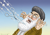 Cartoon: PROTESTE IN IRAN (small) by marian kamensky tagged proteste,in,iran,chamenei
