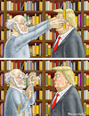 Cartoon: TRUMP IN THE BOOKSTORE (small) by marian kamensky tagged obama,trump,präsidentenwahlen,usa,baba,vanga,republikaner,inauguration,demokraten,fbi,james,comey,wikileaks,faschismus