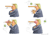 Cartoon: TRUMP VIRUS (small) by marian kamensky tagged brexit,theresa,may,england,eu,schottland,weicher,wahlen,boris,johnson,nigel,farage,ostern,seidenstrasse,xi,jinping,referendum,trump,monsanto,bayer,glyphosa,strafzölle,coronavirus