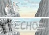Cartoon: VOM ECHO ERSCHLAGEN (small) by marian kamensky tagged echo,2018
