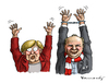 Cartoon: We are the Champions (small) by marian kamensky tagged championslegue,london,fussball,merkel,hoeness,bayern,münchen,borusia,dortmund