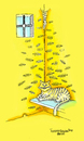 Cartoon: Cat and fish (small) by Mehmet Selcuk tagged cat