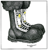 Cartoon: Postal (small) by Mehmet Selcuk tagged military,boots