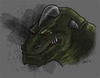 Cartoon: drag no3 (small) by sahin tagged drag dragon no3 number three practicing green horn teeths