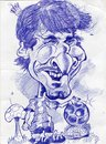 Cartoon: Leonel Messi Golden Ball (small) by RoyCaricaturas tagged leonel,messi,argentina,soccer,players,barca