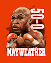 Cartoon: floyd mayweather jr. (small) by juwecurfew tagged mayweather,may2,boxing,floyd,art