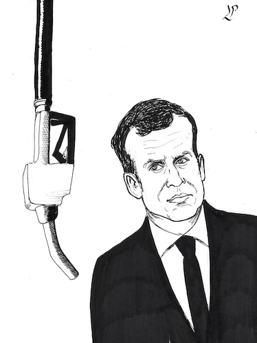 Cartoon: Populist riot (medium) by paolo lombardi tagged france,gasoline