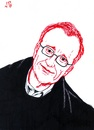 Cartoon: David Grossman (small) by paolo lombardi tagged israel,peace
