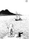 Cartoon: Estelle navy in Naples (small) by paolo lombardi tagged gaza,naples,italy,peace,freedom