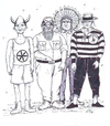 Cartoon: Italians Village People (small) by paolo lombardi tagged italy,racism,politics,satire,berlusconi