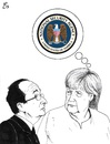 Cartoon: Two Leaders a worry (small) by paolo lombardi tagged usa,europe,spy