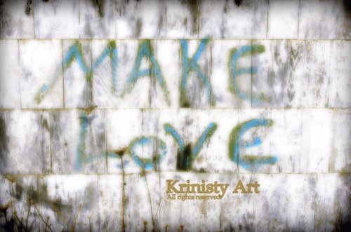 Cartoon: Make Love (medium) by Krinisty tagged love,happiness,sexuality,graffiti,building,photography,krinisty