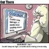 Cartoon: the blog (small) by George tagged the,blog