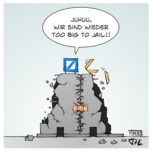 Cartoon: DeutscheCommerzBank (medium) by Timo Essner tagged deutsche,bank,deutschebank,commerzbank,fusion,deutschecommerzbank,banken,bankenkrise,cumcum,cumex,panamapapers,paradisepapers,too,big,to,fail,jail,finanzmarkt,immobilien,spekulation,spekulationsblase,cartoon,timo,essner,deutsche,bank,deutschebank,commerzbank,fusion,deutschecommerzbank,banken,bankenkrise,cumcum,cumex,panamapapers,paradisepapers,too,big,to,fail,jail,finanzmarkt,immobilien,spekulation,spekulationsblase,cartoon,timo,essner