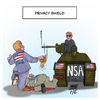 Cartoon: EU USA Privacy Shield (small) by Timo Essner tagged privacy shield safe harbor data communikation datenschutz email handy smartphone mobile phone cellphone internet kommunikation activity eu europe us department of commerce nsa bnd espionage spionage karikatur timo essner