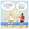 Cartoon: Rising sea temperatures (small) by Timo Essner tagged oceans,sea,temperatures,rising,heating,overheating,creatures,fish,plants,life,ocean,health,water,quality,co2,emissions,waste,dumping,cartoon,timo,essner