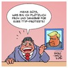 Cartoon: TTIP nach Trump (small) by Timo Essner tagged ttip trump freihandelsabkommen usa deutschland eu sigmar gabriel cartoon timo essner
