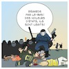 Cartoon: Violence de la police en France (small) by Timo Essner tagged police,violence,france,gilets,jaunes,onu,macron,eu,ue,cartoon,timo,essner