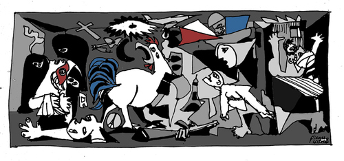 Cartoon: Guernica 2015 (medium) by Carma tagged war,terrorism,politics,guernica