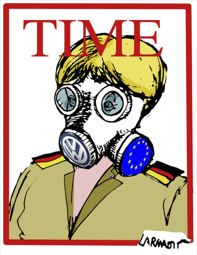 Cartoon: Person Of the Year (medium) by Carma tagged angela,merkel,person,of,the,year,time,immigration,volkswagen