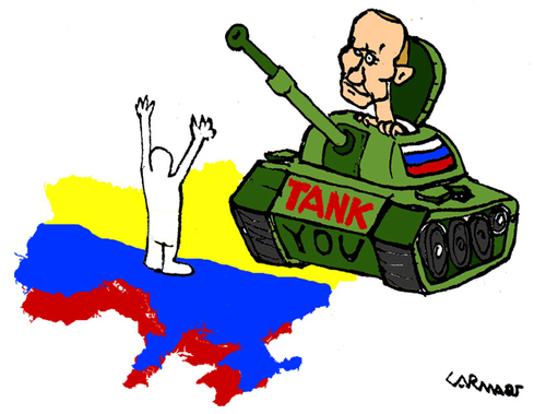 Cartoon: TANK you (medium) by Carma tagged putin,ukraine,russia,war,tanks